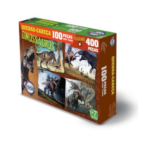 Quebra cabeça Dinossauros 100 peças