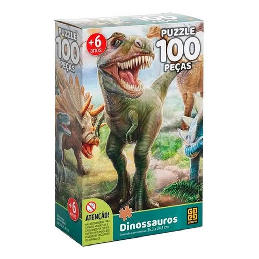 Quebra-Cabeça - Dinossauros - 100 Peças