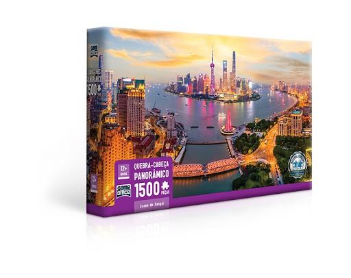 Quebra-cabeça Luzes de Xangai - 1500 peças