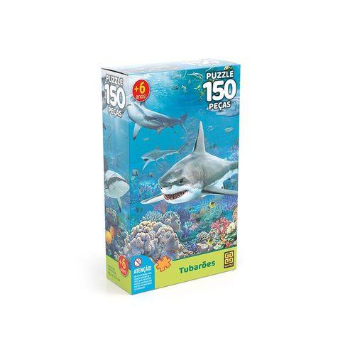 Quebra-Cabeça - Tubarões - 150 peças - Grow