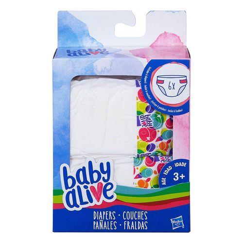 Refil de Fralda Baby Alive - 6 Fraldas