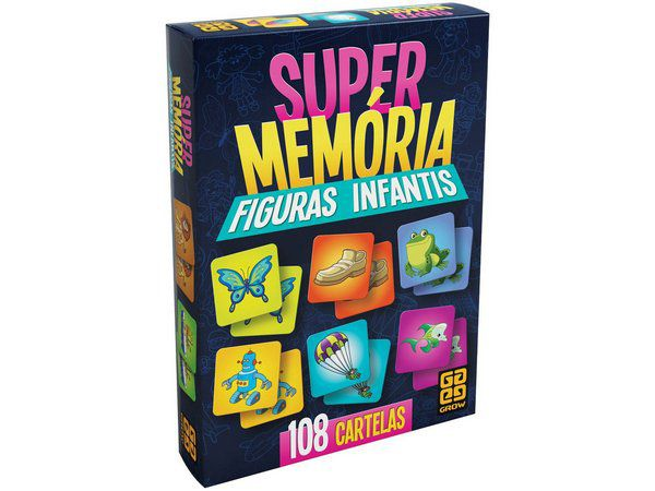 Super Jogo Da Memória - Figuras Infantis - Grow