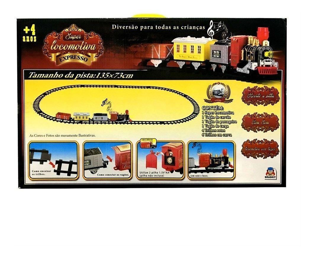 Super Locomotiva Expresso Ferrorama Trenzinho Braskit