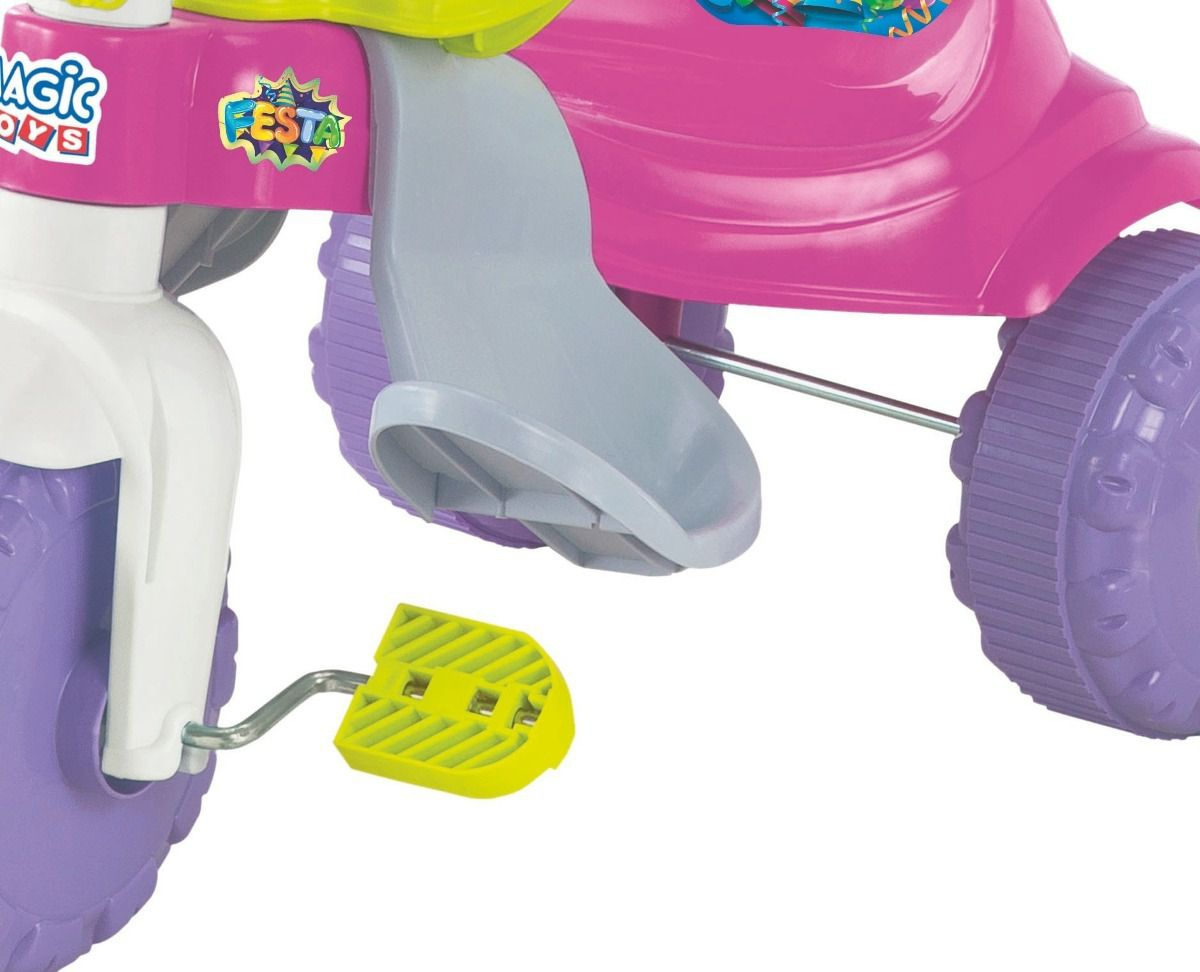 Triciclo Infantil Tico-tico Festa Rosa - Magic Toys