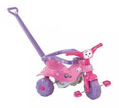 Triciclo Tico Tico Pets rosa Motoca Infantil - Magic Toys