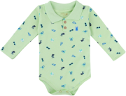 Body Longo Kiko Baby Verde Com Gola Polo
