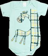 Body Manga Curta Girafinha Verde Petutinha