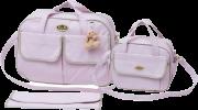 Conjunto de Frasqueira e Bolsa Mommy Rosa