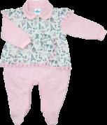 Macacão Longo Paris Rosa Sininho Baby