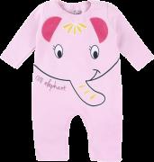 Macacão Longo Moletom Pijama Elefantinha Rosa