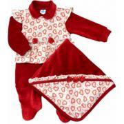 Saída de Maternidade Plush Vermelha Sininho Baby