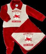 Saída de Maternidade Sininho Baby Plush Vermelho