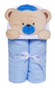 Toalha Felpuda Bichinhos Urso Azul