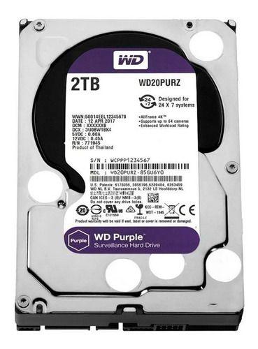 Disco Rígido Wd Purple 2tb Para Cftv