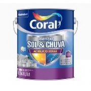 TINTA CORAL ACRILICO TOTAL SOL E CHUVA FOSCO 3,6L BRANCO