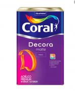 TINTA CORAL DECORA MATTE FOSCO 18L BRANCA