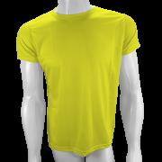 Camisa Poliéster Amarelo Canário para sublimar
