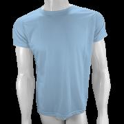 Camisa Poliéster Azul Bebê para sublimar