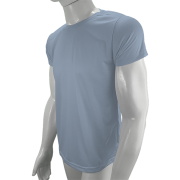 Camisa Poliéster Cinza Claro para sublimar