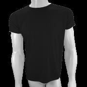 Camisa Poliéster Preta para sublimar