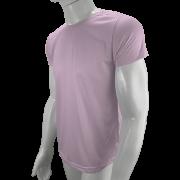 Camisa Poliéster Rosa Bebê para sublimar