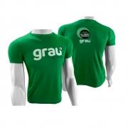 Camisas Aluno Verde Cana em Silk Screen - Grau Técnico