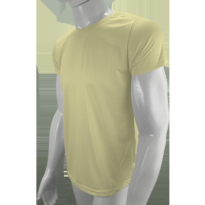 Camisa Poliéster Amarelo Bebê para sublimar  - PBF GRAFICA E TEXTIL LTDA
