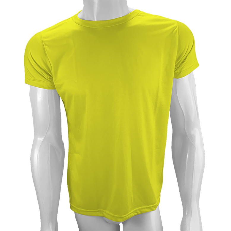 Camisa Poliéster Amarelo Canário para sublimar  - PBF GRAFICA E TEXTIL LTDA