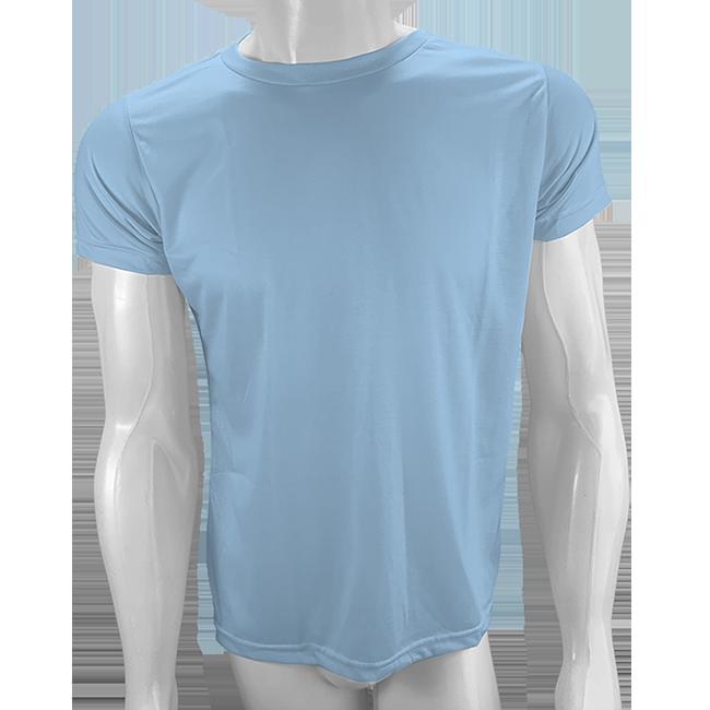 Camisa Poliéster Azul Bebê para sublimar  - PBF GRAFICA E TEXTIL LTDA