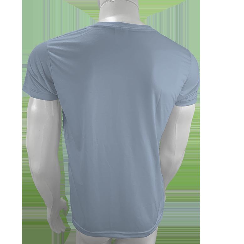 Camisa Poliéster Cinza Claro  - Camiseta sublimação  - PBF GRAFICA E TEXTIL LTDA