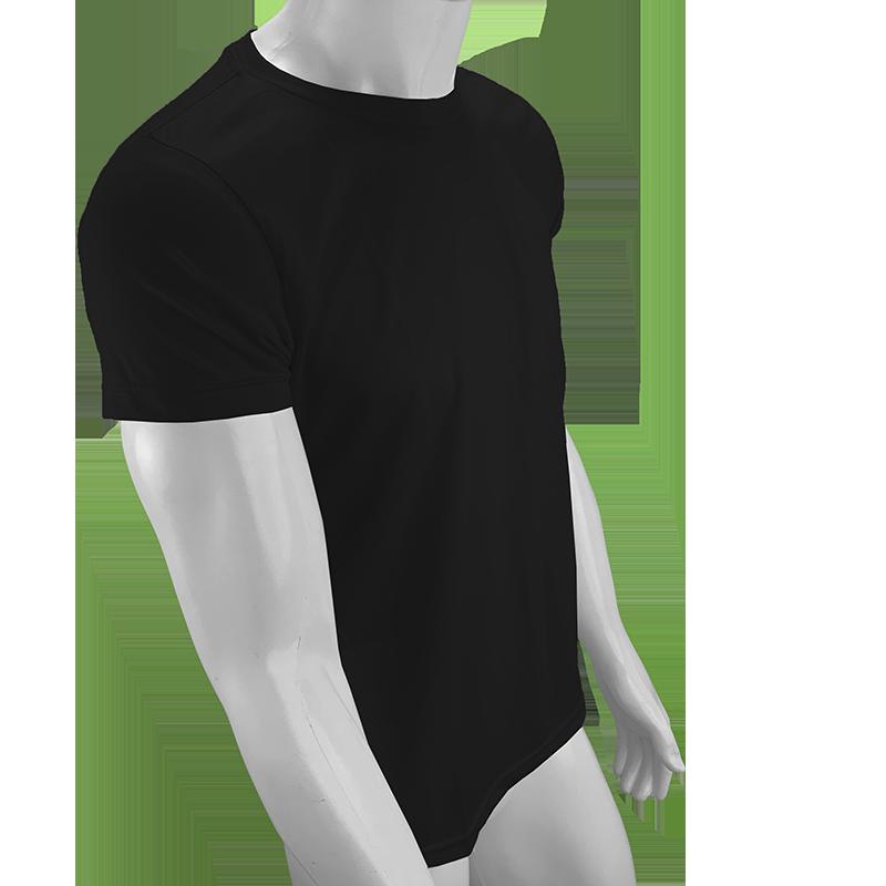 Camisa Poliéster Preta   - PBF GRAFICA E TEXTIL LTDA