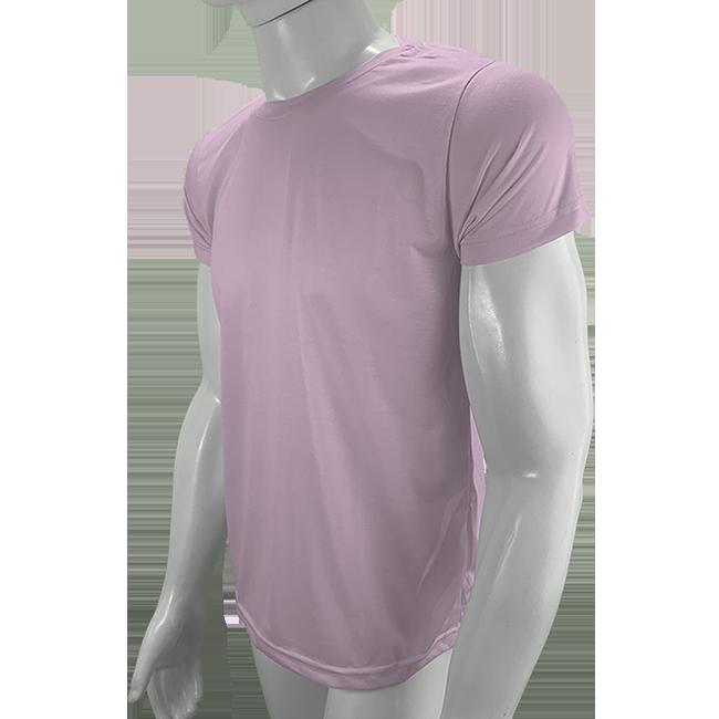 Camisa Poliéster Rosa Bebê para sublimar  - PBF GRAFICA E TEXTIL LTDA