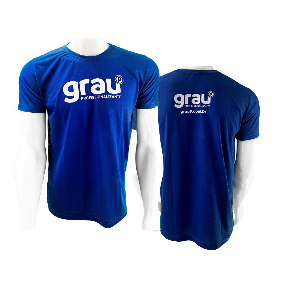 Camisas Aluno Azul Royal em Silk Screen - GrauP  - PBF GRAFICA E TEXTIL LTDA