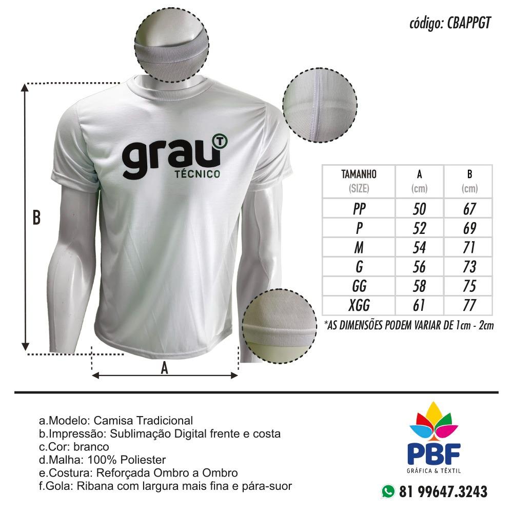 Camisas Aluno Branca em sublimação - Grau Técnico  - PBF GRAFICA E TEXTIL LTDA