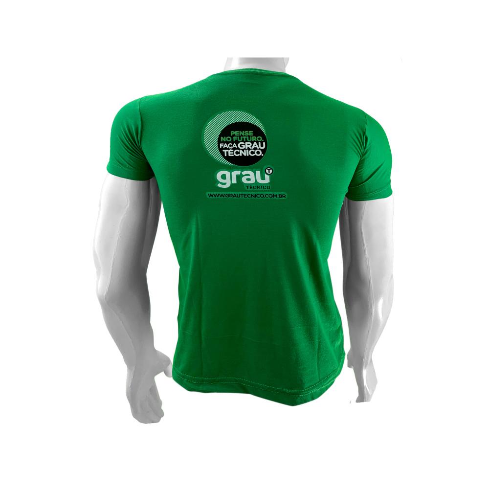 Camisas Aluno Verde Cana em Silk Screen - Grau Técnico   - PBF GRAFICA E TEXTIL LTDA