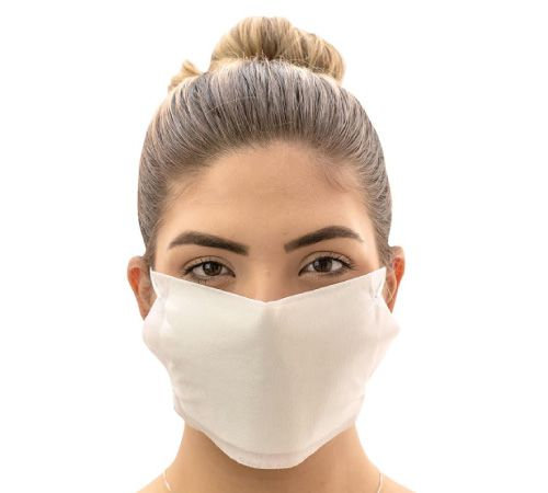 Máscaras Protect dupla camada branca - Pacote c/ 10 unidades.  - PBF GRAFICA E TEXTIL LTDA