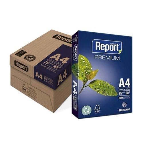 PAPEL A4 REPORT PREMIUM RESMA 75GRS 210X297 10UN C/ 500 FOLHAS