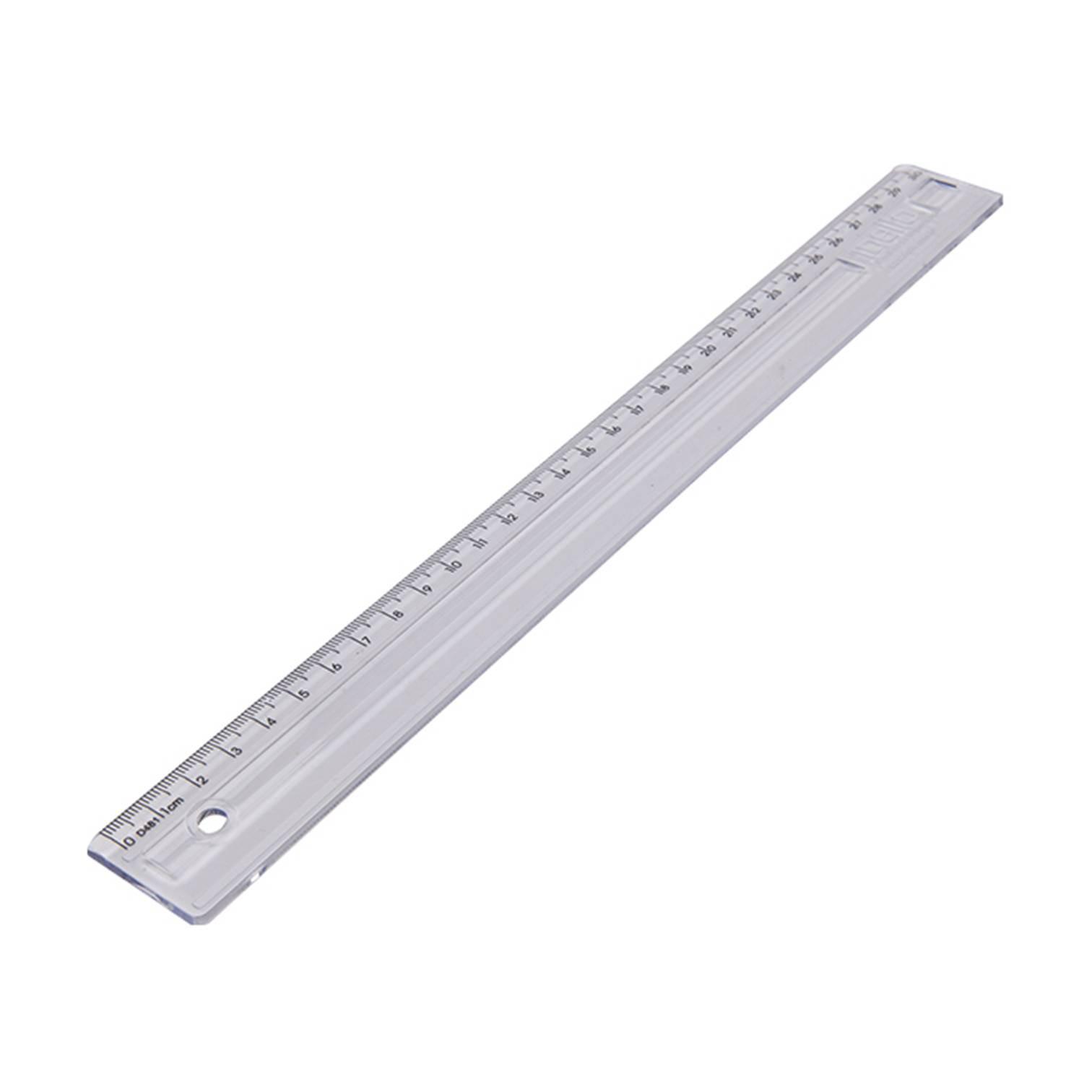 Régua 30cm Plástico Dello Transparente