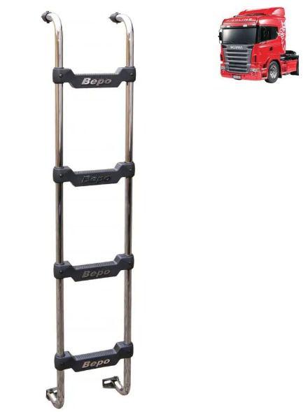 Escada Traseira Compatível com Caminhão Scania Cabine R Highline Cromada