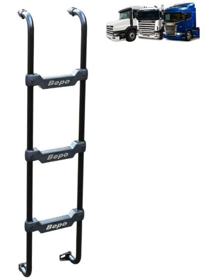 Escada Traseira Compatível com o Caminhão Scania S4 Cabine G / R / T Preta