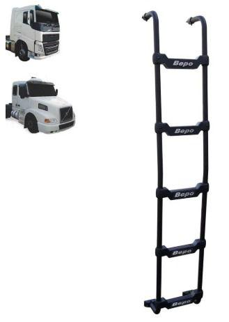 Escada Traseira para caminhão Volvo NH / FH Cabine Baixa Preta