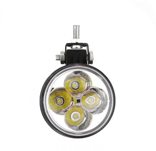 Farol de Milha Farolete LED 12w 7,8cm 12v 24v