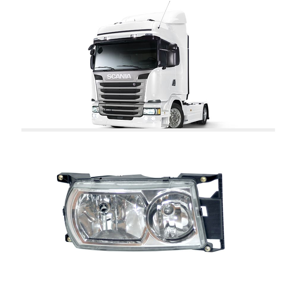 Farol Scania Série 5 a partir de 2010 H7 H1 Nino