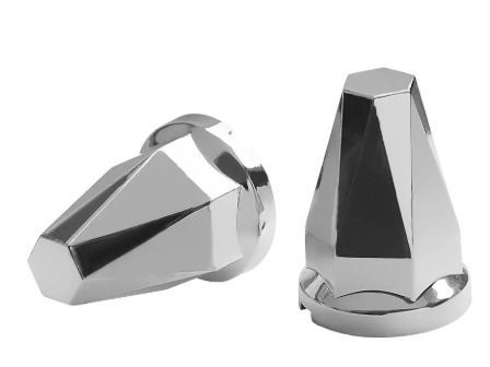 Kit 20 Capas de Porca Cromada Diamante