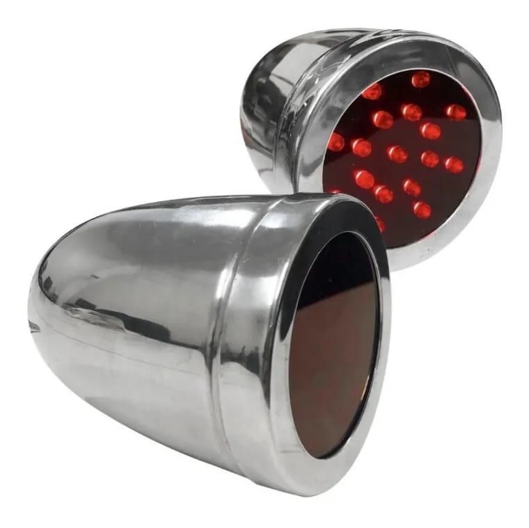 Lanterna LED Corujinha / Olho de Gato 24v Vermelha