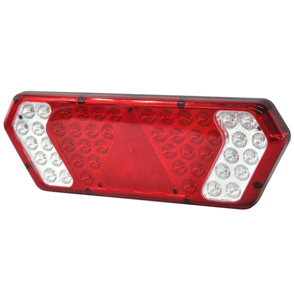 Lanterna Traseira Guerra LED Vermelha Colmeia  - Lantersul