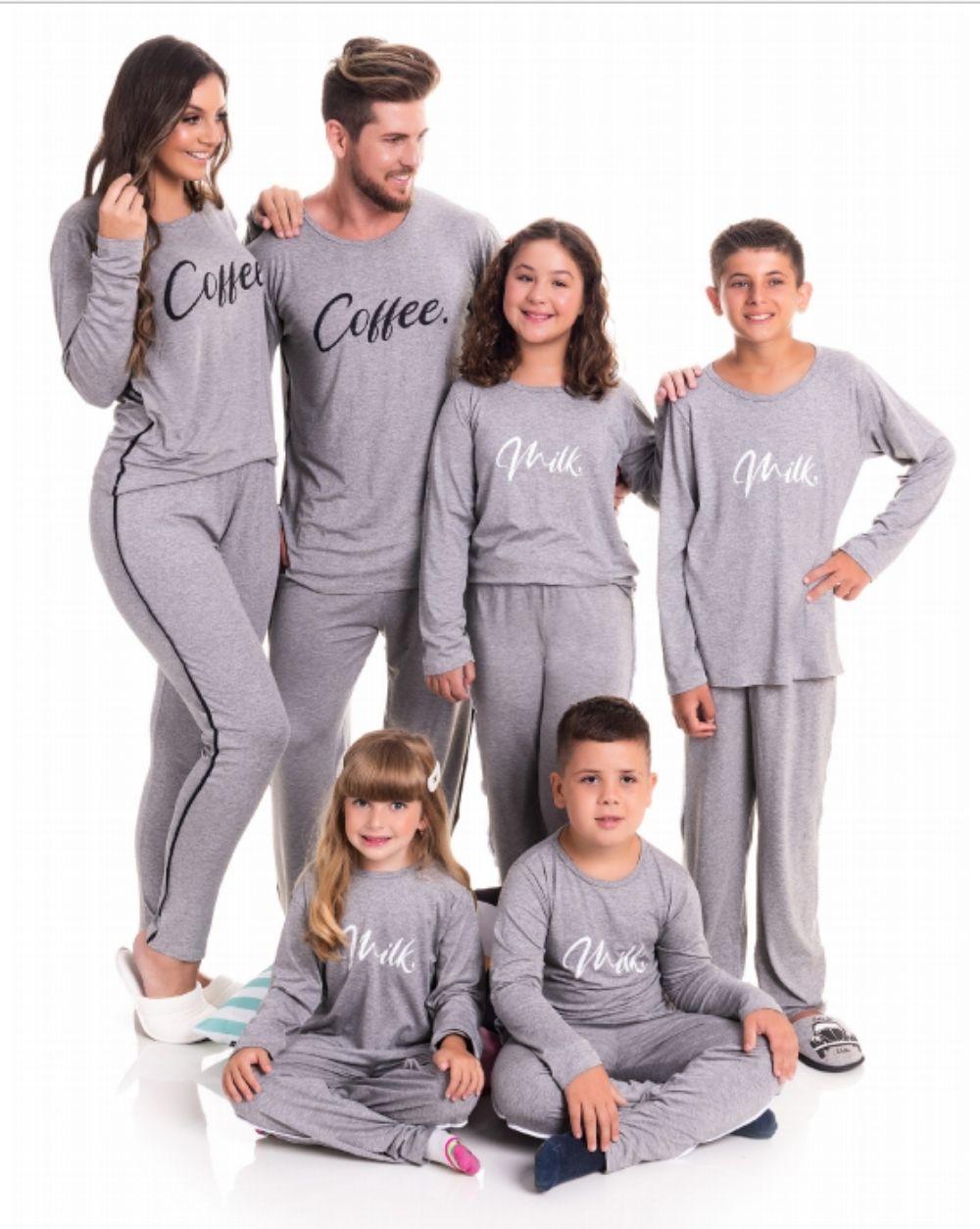 PIJAMA MANGA LONGA FAMILIA COFFE (ref 2114-9990)
