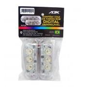 Ajk 5 Pares de Faróis RGB Digital Endereçável 3 Leds - 10 Fárois
