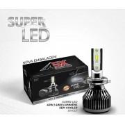 Kit Lâmpada Super Led Asx 6000k 40w 12 24v