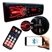 Rádio Automotivo First Option 5566 Mp3 Fm Aux Controle Sd Usb